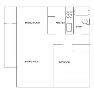Village Manor Apartments Floor Plan Image 1