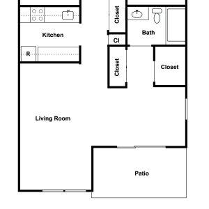 Village Square Apartments Floor Plan Image 1
