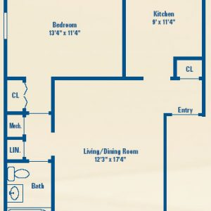 Westhills Square Apartments Floor Plan Image 1
