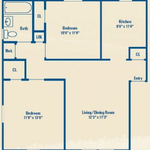 Westhills Square Apartments Floor Plan Image 2