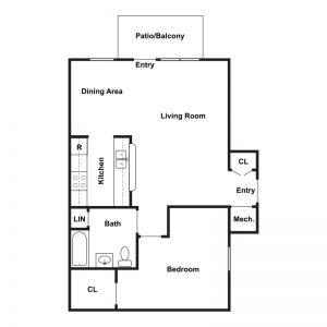 Willow Landing Apartments I & II Floor Plan Image 1
