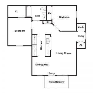 Willow Landing Apartments I & II Floor Plan Image 2