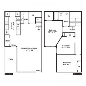 Willow Point at Vista Center Apartments Floor Plan Image 3