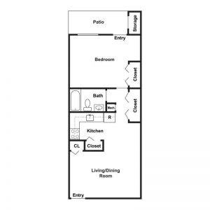 Woodburn Court II Apartments Floor Plan Image 1