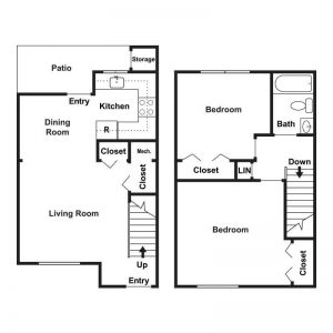 Woodburn Court II Apartments Floor Plan Image 2