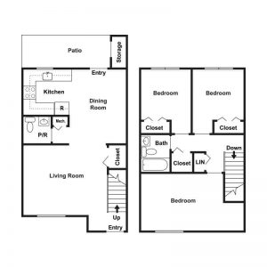 Woodburn Court II Apartments Floor Plan Image 3