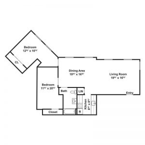 YWCA Apartments Floor Plan Image 2